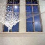 1999ステンレスワイヤーとテグスを編んだネットに楮で紙漉きを加える ギャラリーギャラリー